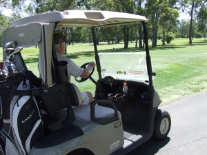 Golf cart at Virginia golf course