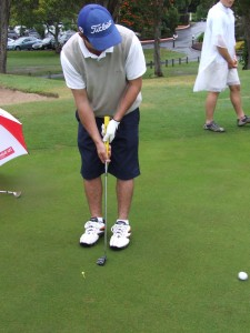 Putting practice at Platinum Builders Group golf day